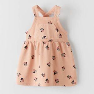 NWT ZARA Minnie Mouse Disney Overalls Dress